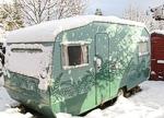 Caravan in Winter